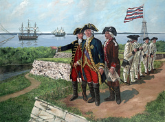 Rochambeau Visits Ft. Mifflin on His Way to Yorktown